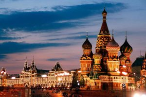 Rusia, Moscú, la Catedral de San Basilio, la Plaza Roja