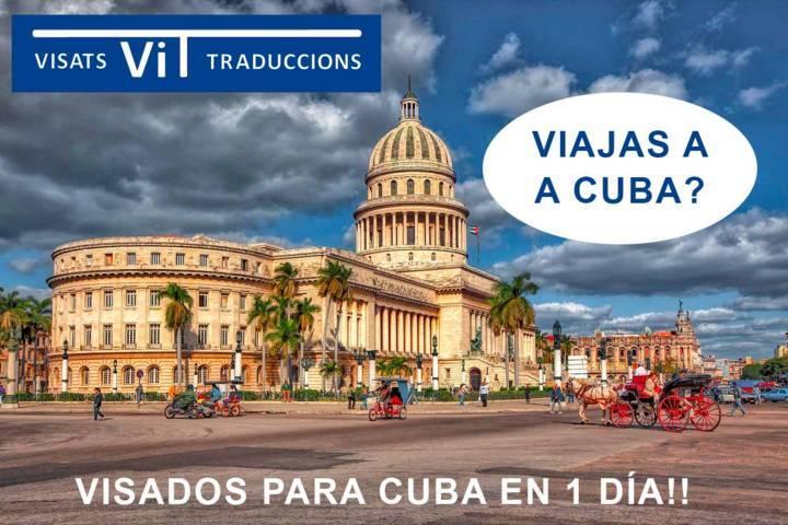 Publicidad de Vuisados para viajar a Cuba