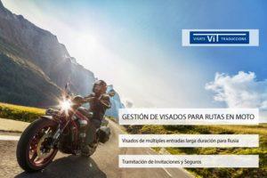 Anuncio de una moto en una carretera de Visados para Rutas en Moto